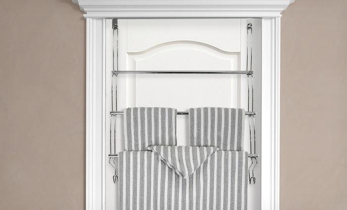 Over The Door Steel Towel Rack Groupon Goods
