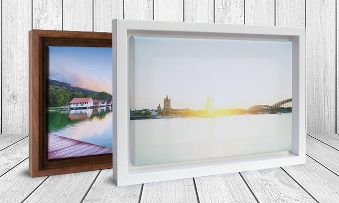 Custom Canvas with Floating Frame from CanvasOnSale (Up to 79% Off).