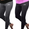 Rock & Luxe 3/4-Length Ruched-Waist Yoga Pants