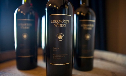 VIP Winery Tour and Tasting Experience for One, Two, or Four at Miramonte Winery (Up to 77% Off)