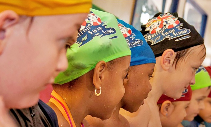 British Swim School  - Multiple Locations: $89 for Six Weeks of Swim Lessons, Waived Membership Fee, and Swim Cap at British Swim School ($187 Value)