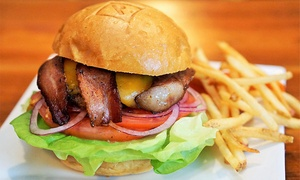 P'UNK BURGER: $26.99 for Burgers, Fries, and Milkshakes for Two at P'unk Burger ($42 Value)