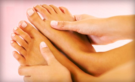 OPI Mani-Pedi with Optional 30-Minute Relaxation Massage at Vera Medi-Spa and Salon (Up to 59% Off)