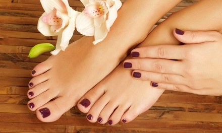 Gel Polish Manicure $19, Pedicure $25, or Both $39 at Luxuria Salon Up to $80 Value