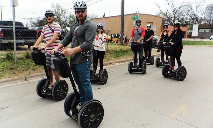Gliding Revolution - Austin Food Park: Capital Pavement Tour or Introductory Segway Ride for Two or Four from Gliding Revolution (Up to 51% Off)