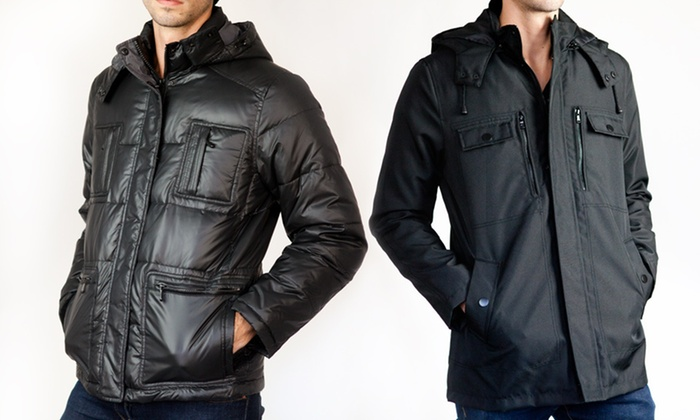 Kenneth Cole Reaction Men's Coats: Kenneth Cole Reaction Men's Anorak Jacket or Cire Down Coat in S–XXL (Up to 82% Off). Multiple Colors Available. Free Shipping.