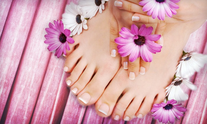 Unix Cuts & Spa - Murfreesboro: Gel-Color Manicure with Optional Spa Pedicure, or Full Set of Regular Acrylic Nails at Unix Cuts & Spa (Up to 52% Off)