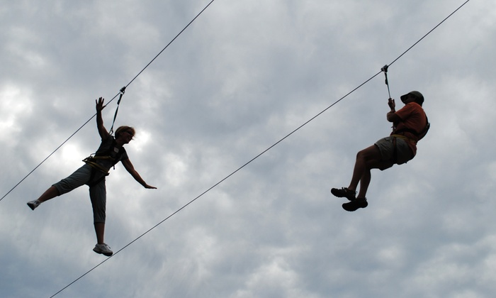 Xtreme Adventures - Brewer: Aerial Adventure Course and Ziplines for Two or Four at Xtreme Adventures (Up to 51% Off)