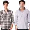 One90One Plaid and Solid Button Downs