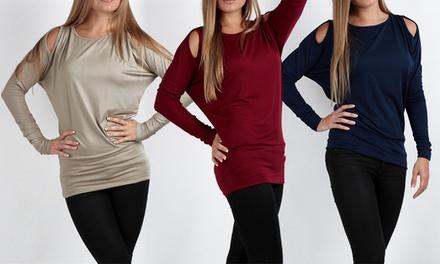 Women's Dolman Sleeve Tunic Tops (3-Pack)