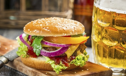 Burgers, Fries, and Beers for Two or Four People at East Village Tavern (Up to 54% Off)