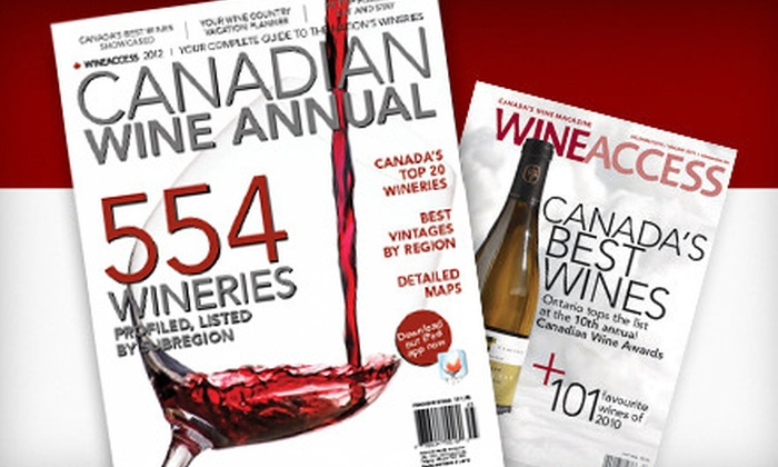 """Wine Access - Abbotsford: $20 for a One-Year Subscription Package to """"Wine Access"""" Magazine Including 2012 """"Wine Annual"""" and Tote Bag ($40 Value)"""