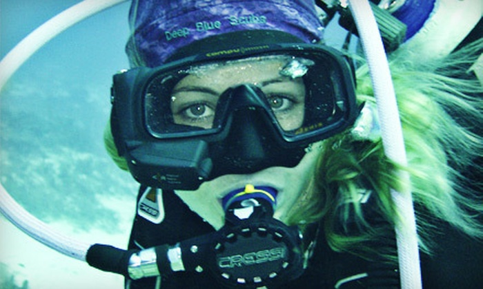 Deep Blue Scuba - Northwest Austin: Refresher Course or Open-Water Scuba-Certification Class for One or Two with Gear at Deep Blue Scuba (Up to 63% Off)