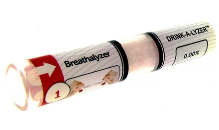 4-Pack of Disposable Single-Use Breathalyzer Alcohol Level Testers