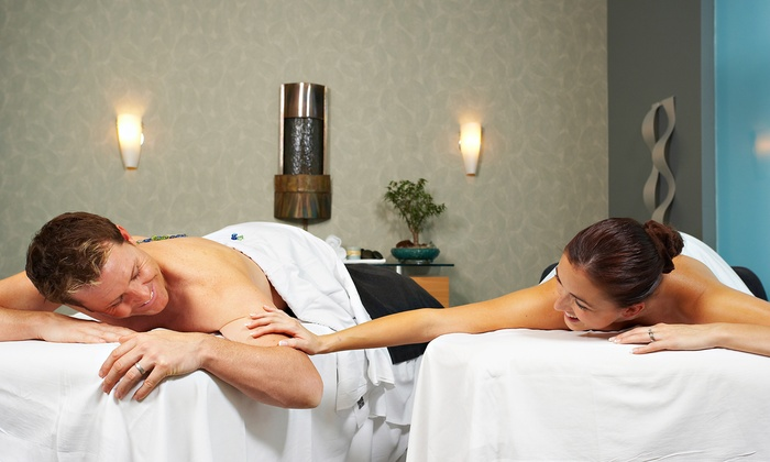 La Bella Day Spa and Salon - La Bella Day Spa and Salon: 30-, 60-, or 90-Minute Couples Massage with Chocolates and Champagne at La Bella Day Spa and Salon (50% Off)