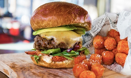 Burgers, Shakes, and Sides for Two, Four, or Six at The District (51% Off)