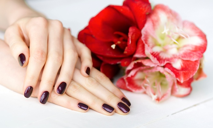 Queen Jane Nail Salon - Multiple Locations: Gel Manicure with Optional Regular Pedicure at Queen Jane Nail Salon (Up to 58% Off)