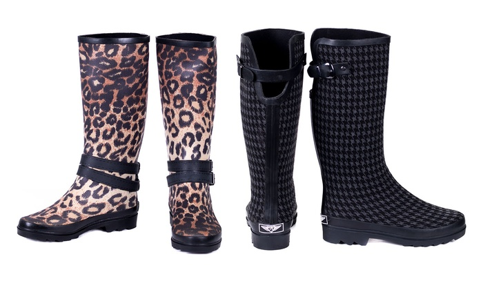 Beautiful  Rain Boots With Animal Print Henry Ferrara Women39s Tall Rain Boots