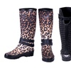 Women's Fashion Rain Boots with Buckle