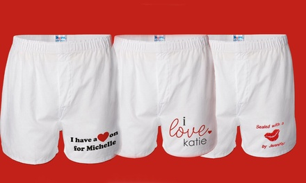 Personalized Men's Boxers from GiftsForYouNow.com. Multiple Styles Available.