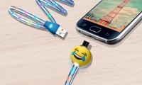 Bytech 3.5Ft. MFi Micro USB Charge & Sync Emoji Cable