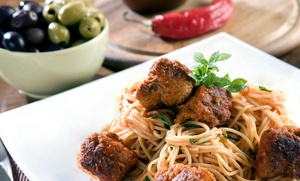 Roots Cafe & Kitchen: Pasta Entree for Four at ROOTS Italian Gourmet Kitchen (45% Off)