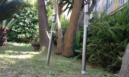 2 lampade led solari da giardino groupon goods for Groupon giardino