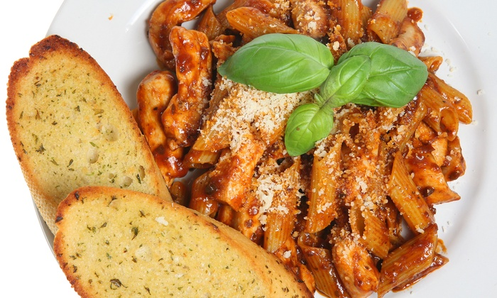 La Piazza - Downtown: Greek, Italian, and American Cuisine at La Piazza (Up to 45% Off). Three Options Available.