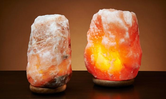 Himalayan Natural Salt Lamp: Small or Large Himalayan Ionic Crystal Natural Salt Lamp (Up to 53% Off). Free Shipping.