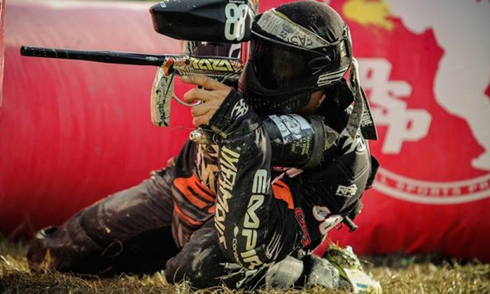 San Diego Paintball Park - San Diego Paintball Park: Four-Hour Sessions for 8, 12, 24, or 4 at San Diego Paintball Park (Up to 52% Off)