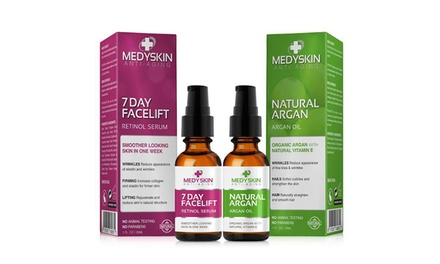 Medyskin 7 Day Facelift Retinol Serum with Free Argan Oil; 1 Fl. Oz. Each