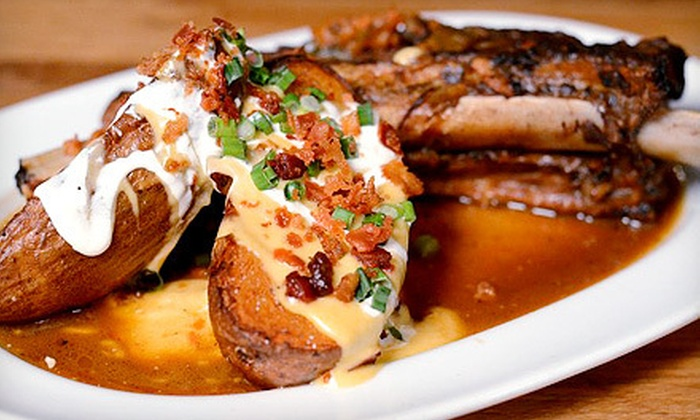 Left Coast Kitchen and Cocktails - Merrick: Upscale Gastropub Food and Drinks for Two or Four at Left Coast Kitchen and Cocktails (Up to 58% Off). Four Options Available.