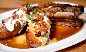 Left Coast Kitchen and Cocktails: Upscale Gastropub Food and Drinks at Left Coast Kitchen and Cocktails (Up to 50% Off). Two Options Available.