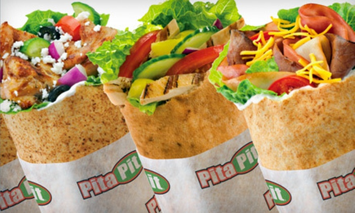 Pita Pit - Multiple Locations: $5 for $10 Worth of Fresh Pitas, Smoothies, and Chips at Pita Pit