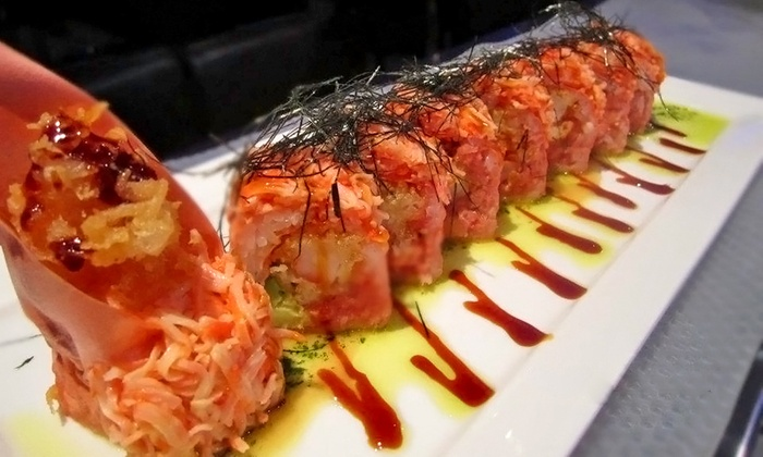 Blue Fish Japanese Restaurant and Lounge - Hicksville: Japanese Cuisine with Drinks at Blue Fish Japanese Restaurant and Lounge (Up to 63% Off). Two Options Available.
