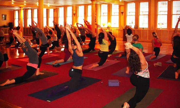 Dharma Yoga - Midtown South Central: 5, 10, or 20 Drop-In Yoga Classes at Dharma Yoga (Up to 83% Off)
