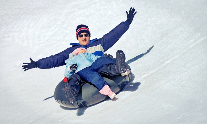 Hawk Island County Park - Forest View: 2 Hours of Snow Tubing for Two Adults or Two Adults and Two Kids at Hawk Island County Park (Up to 50% Off)