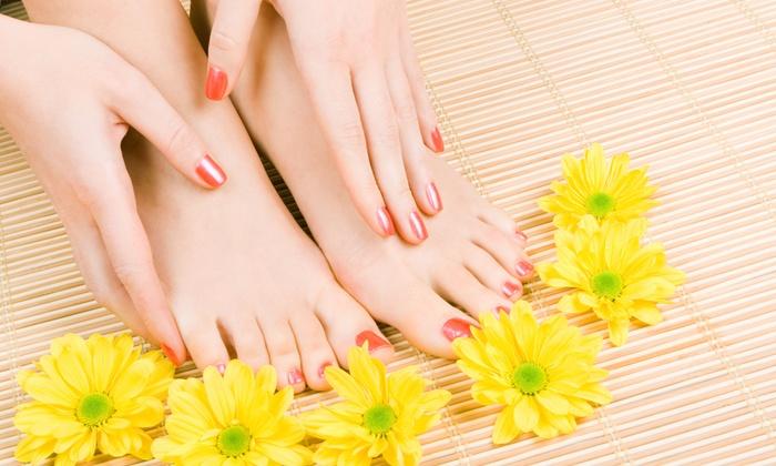 Charleston Nails & Spray Tan - Charleston Nails & Spray Tan: Shellac Manicures and Pedicures at Charleston Nails & Spray Tan (Up to 51% Off). Three Options Available.