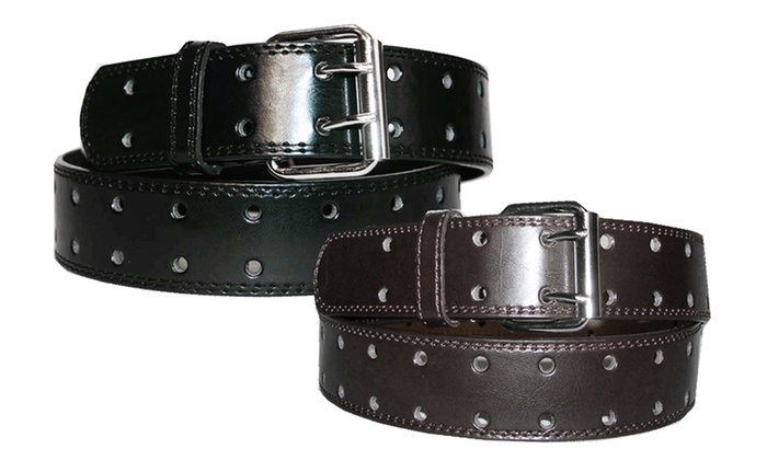 Two-Hole Leather Belts (2-Pack)