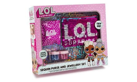 One or Two RMS LOL Surprise Sequin Purse and Jewellery Sets