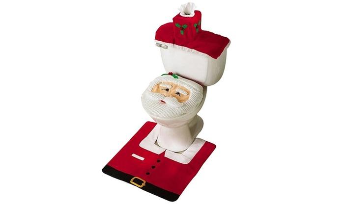 Three Piece Santa Bathroom Set