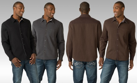 Skechers Men's Thermal-Lined Flannel Shirts. Multiple Colors Available.