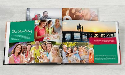 image for Personalized Portrait and Landscape Imagewrap Photobooks from Photobook America (Up to 91% Off)