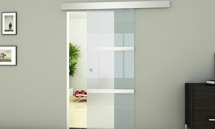 Porta in vetro scorrevole groupon - Porta scorrevole vetro offerta ...