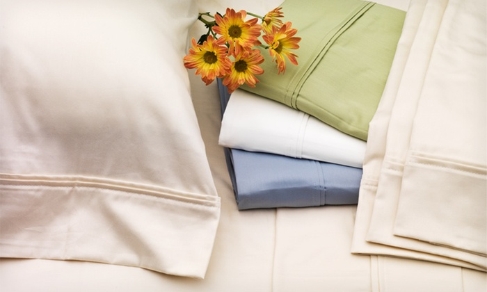 Six-Piece Luxury Cotton-Sateen Sheet Sets: $54 for a Six-Piece 400TC Luxury Cotton-Sateen Sheet Set (Up to $200 List Price). Multiple Options Available. Free Shipping and Returns.