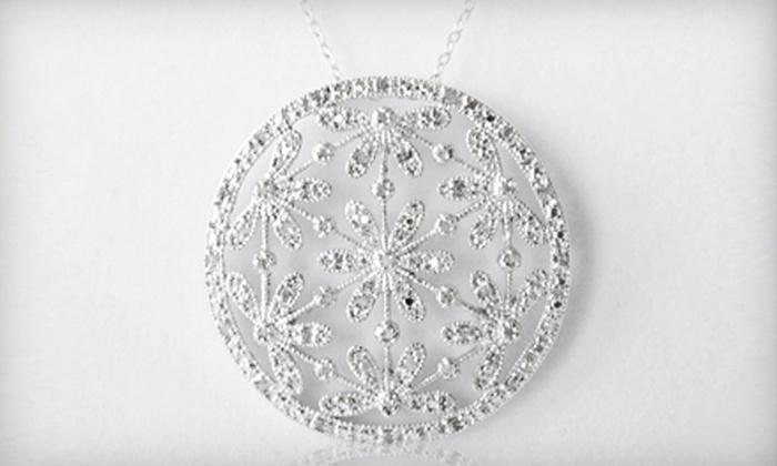 Floral Pendant Necklace: $69 for a 0.5-Carat Diamond Floral Pendant Necklace ($250 List Price). Free Shipping.