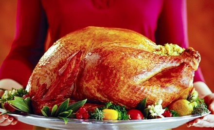 African Thanksgiving Dinner with Turkey, Stuffing, Sauce, and Option for 3 or 6 Sides from Sheba Foods (Up to 60% Off)