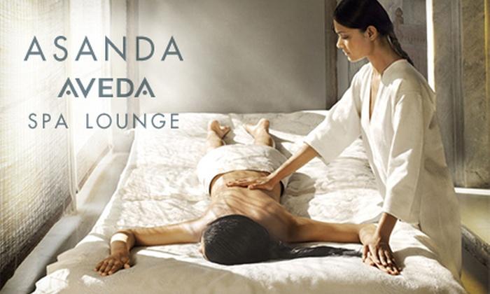 Asanda Aveda Spa Lounge - Asanda Spa Lounge: One or Two Signature, Hot-Stone, Deep-Tissue, or Stress-Fix Massages at Asanda Aveda Spa Lounge (Up to 59% Off)