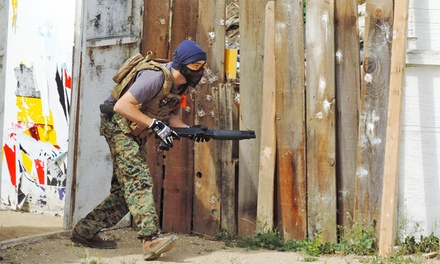 Airsoft Package for One, Two, or Four, or One-Year Membership at The Warhouse Airsoft Arena (Up to 53% Off)