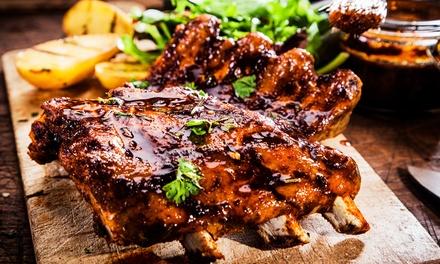 Smakowita taca mięs z grilla dla 2 osób za 69,99 zł i więcej opcji w restauracji Stara Piekarnia BBQ